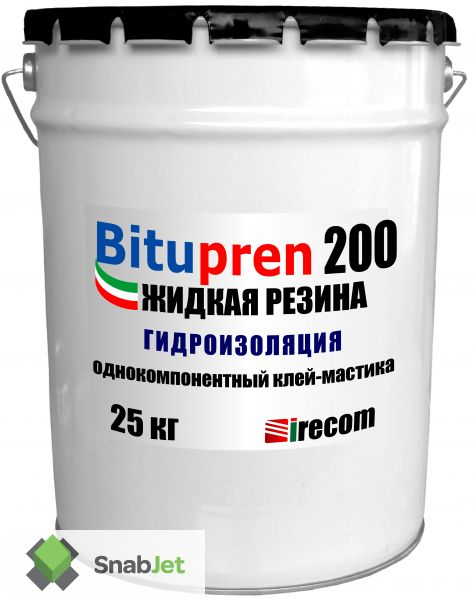 2 в 1 - эластичный клей и гидроизоляция BITUPREN 200